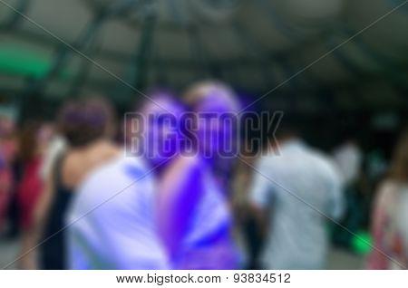 People dancing blur background