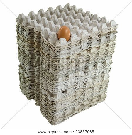 An Egg In Stacked Tray