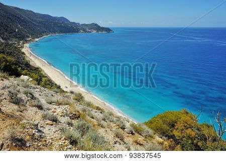 Blue Waters of the ionian sea