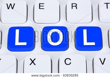 Lol Laugh Out Loud Communication Online On The Internet