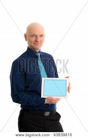Young Businessman With Tablet Pc