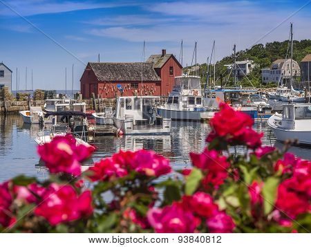 New England fishing village of Rockport, MA. USA