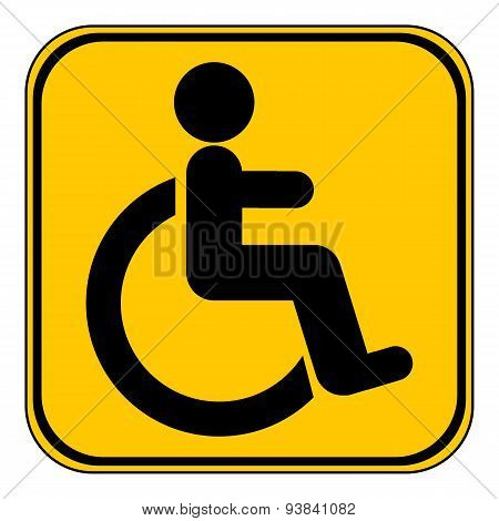 Disabled Sign Button.