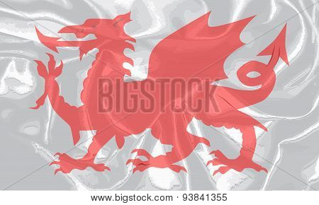 Welsh Dragon Grunge