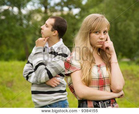 Young Couple Having Quarrel