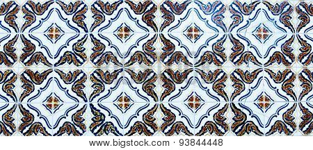 Traditional old portuguese and spanish tile Azulejo