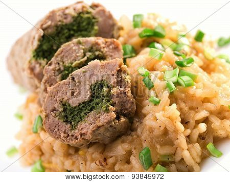 Roulade With Risotto