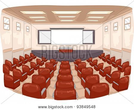 Illustration of a Lecture Hall with a Large Seating Capacity