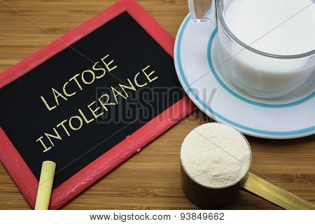Lactose Intolerance Concept