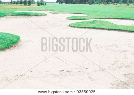 Sand trap at golf course