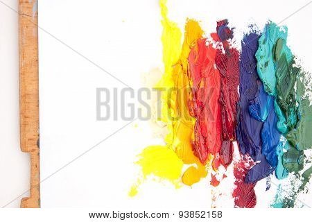 White Background With Abstract Painting