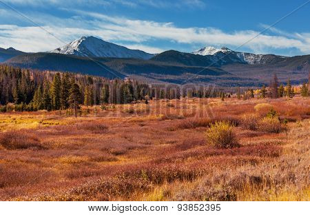 autumn season in mountains