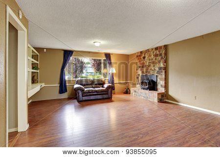 Simple Hardwood Living Room.
