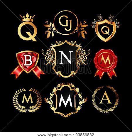 Set of luxury monograms