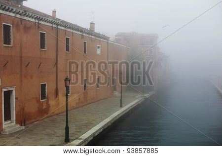 Fog In Venice Near Arsenal