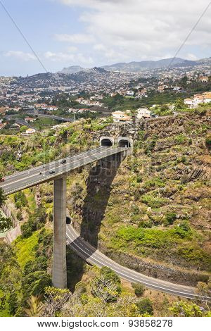 Highway Roads On Madeira Island, Portugal