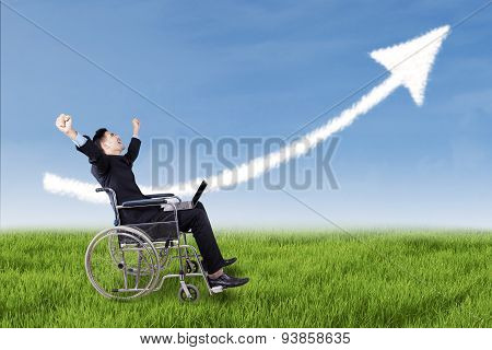 Disabled Businessman Celebrate His Winning