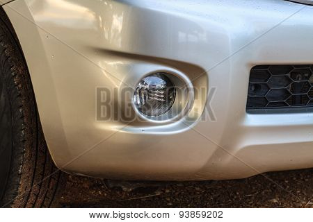 headlights of car