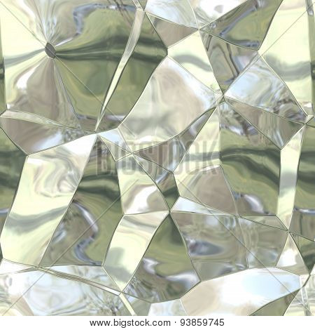 Seamless Abstract Pattern Of Silver-gold Damaged Foil