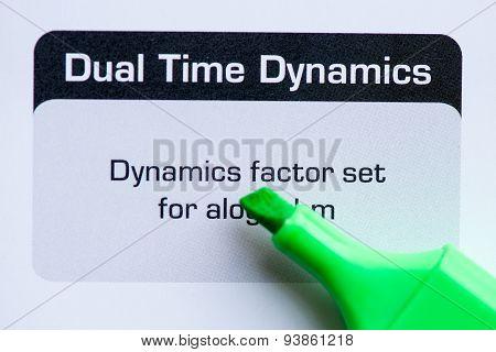 Dual Time Dynamics