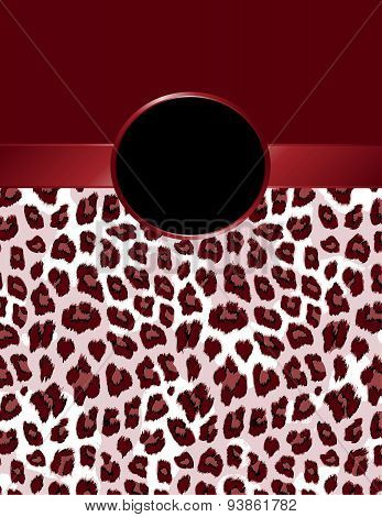 Deep Red Leopard Print With Rosette