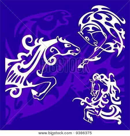 Vignettes Horses.