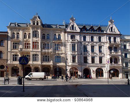 Two houses, pearls Piotrowska Street.