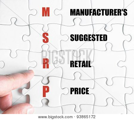 Last Puzzle Piece With Business Acronym Msrp