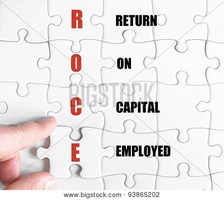 Last Puzzle Piece With Business Acronym Roce
