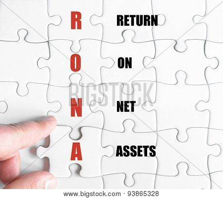 Last Puzzle Piece With Business Acronym Rona