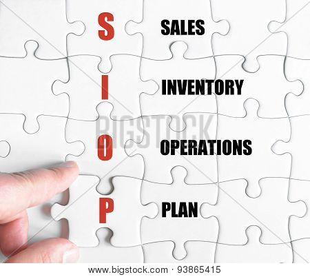 Last Puzzle Piece With Business Acronym Siop