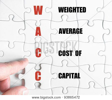 Last Puzzle Piece With Business Acronym Wacc