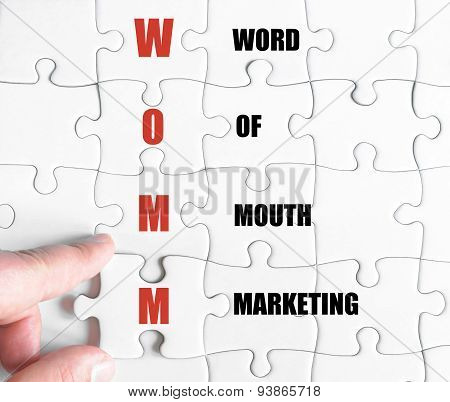 Last Puzzle Piece With Business Acronym Womm