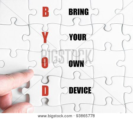 Last Puzzle Piece With Business Acronym Byod