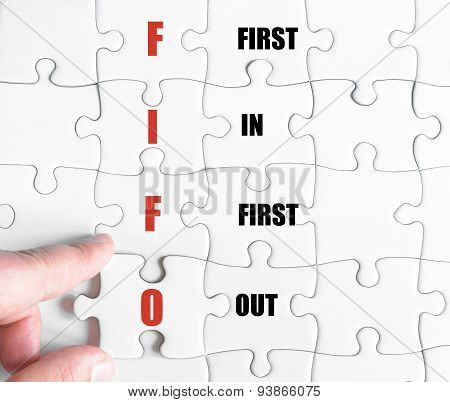 Last Puzzle Piece With Business Acronym Fifo