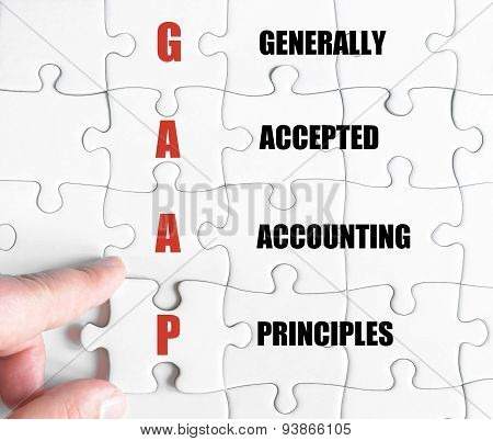 Last Puzzle Piece With Business Acronym Gaap