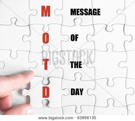 Last Puzzle Piece With Business Acronym Motd