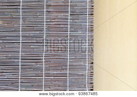 Close - up Natural bamboo blind texture