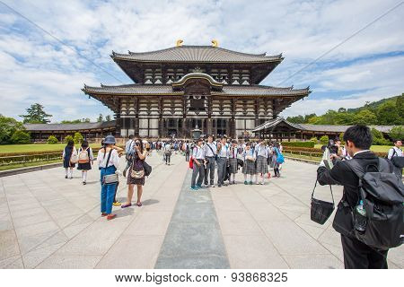 The Great Buddha Hall at Todai-ji in Nara Japan