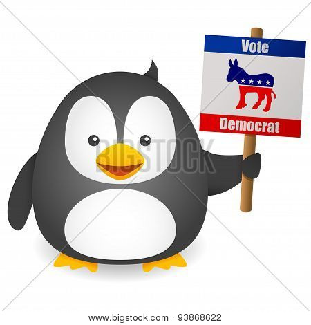 Penguin Vote for Democrat