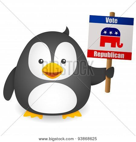 Penguin Vote for Republican