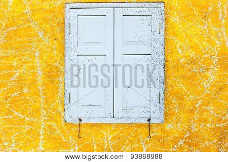 Abstract Art Yellow Cement Wall Texture Background