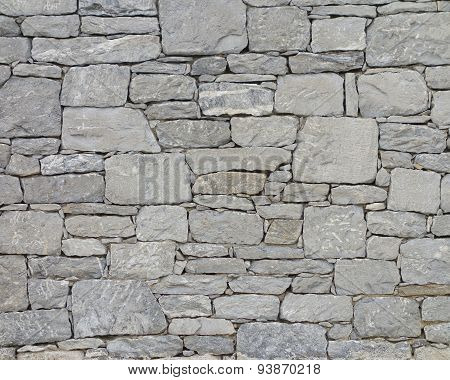 grey stone wall close-up