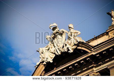 Statue On The Republic Plaza Rome