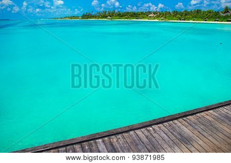 Beautiful tropical view of perfect ideal island