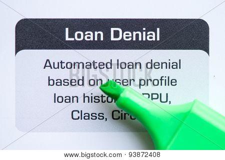Loan Denial