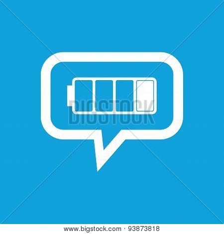 Low battery message icon