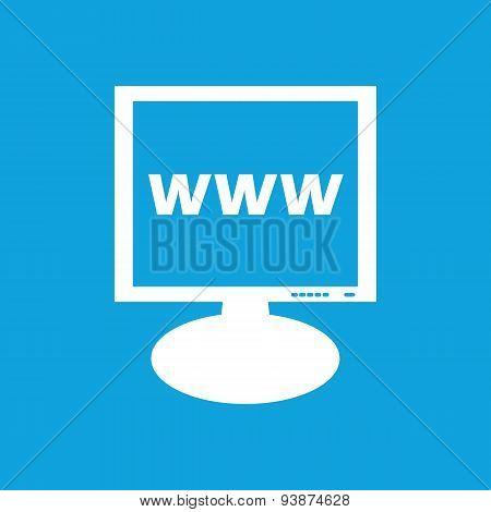 WWW monitor icon