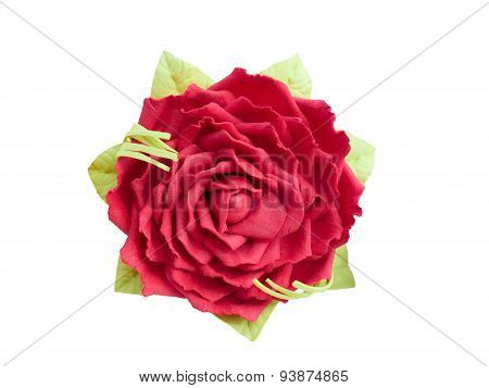 Red artificial Rose
