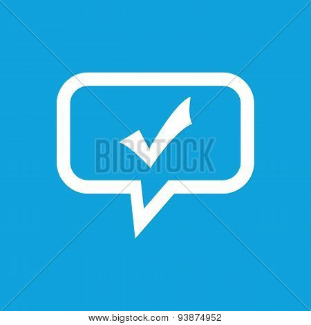 Tick mark message icon